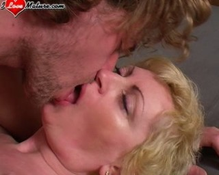 Blonde mature nympho fucking and sucking