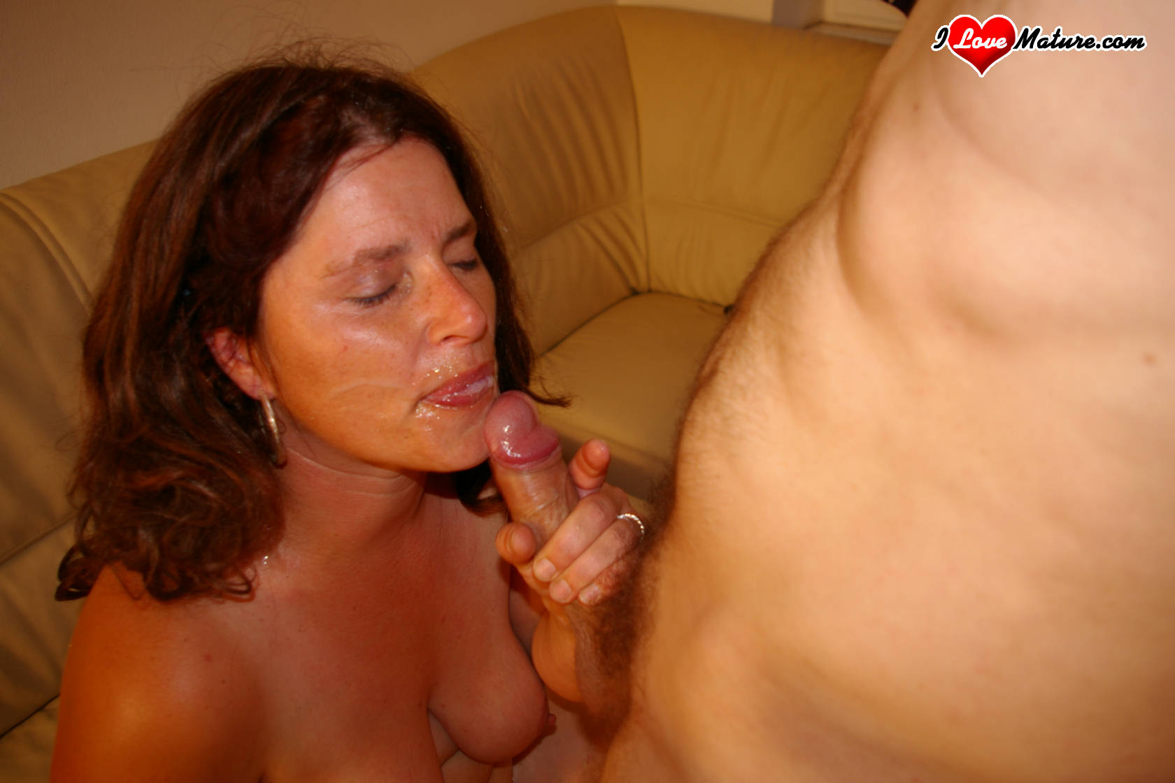 Ebony mature black creampie