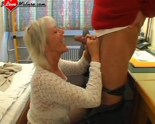 young man loves to fuck a mature slut
