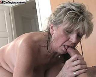 See this housewife get wet on cock
