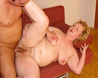 This chubby housewife is getting a hard cock