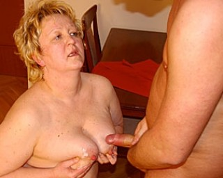 Chubby mature slut getting in on all the action