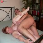Hot grandma fucked between tits