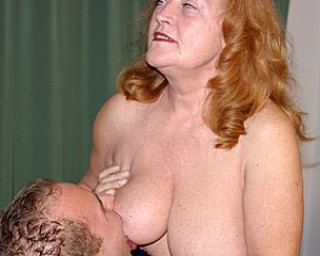 Give that mature redhead all the cock she wants