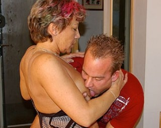 Mature slut fucking all the way through her house
